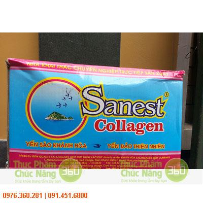 Thùng nước Yến sào Sanest Collagen Khánh Hòa
