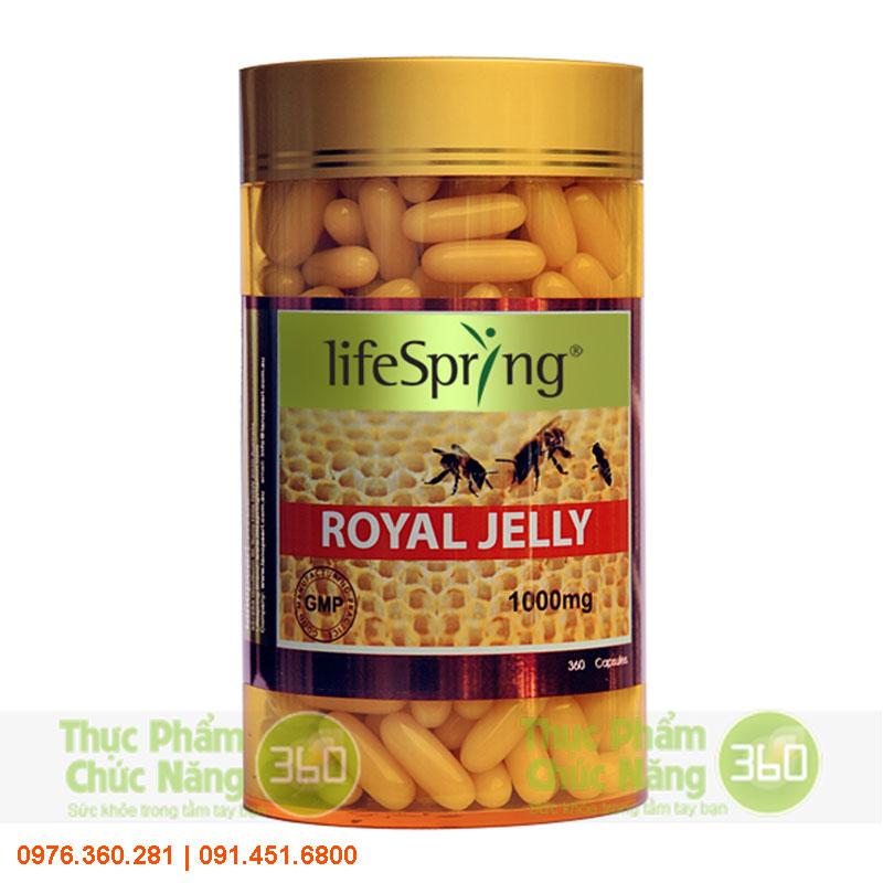 Viên Uống Sữa Ong Chúa LifeSpring Royal Jelly 1000 Mg - Lanopearl