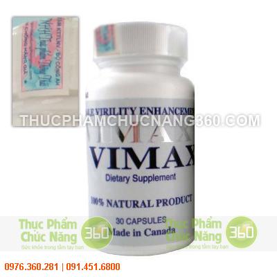 Thực phẩm chức năng Vimax Pills tăng cường sinh lực từ Canada