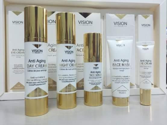 Vision Skincare bộ mỹ phẩm cao cấp chống lão hóa da của Vision